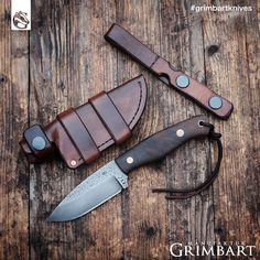 """Bushcraft knife by Manufaktur Grimbart (@grimbartknives) auf Instagram: """"Grimbart 'Luchs'. Mikko from @karu_survival asked about a sheath that can be worn both ways,…"""""""