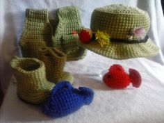 Infant Photo Prop Fishing Set by BabblingHook on Etsy