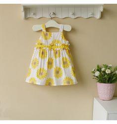 Mom and Bab Woven Dress - Sunflower - sadinashop.com  Dress atau gaun cantik untuk bayi dan anak perempuan.