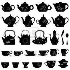 Tea Teapot Cup Chinese Japanese Asian Oriental Stock Photo - 8513569