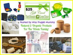 Enter to #Win an Ultimate Green Store $25 Gift Certificate: http://missfrugalmommy.com/the-ultimate-green-store-25-gift-card-giveaway/