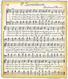 Free Vintage Clip Art - Vintage Christmas Song Sheet and Candy Cane ...