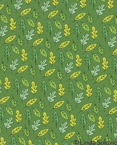 Green Acres Pattern Collection by Linda Solovic on Behance