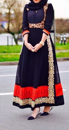 Desi hijabi. The style/cut of this is so unique! It feels both Western and Asian at the same time. Perfect for a #wedding guest