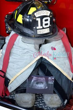 Firefighter and gf expecting a baby.  Photo Shoot idea. Pregnancy announcement