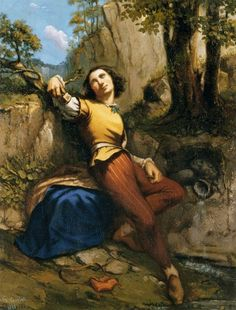 Gustave Courbet The Sculptor, , Private collection. Read more about the symbolism and interpretation of The Sculptor by Gustave Courbet. French Paintings, Romantic Paintings, Art Français, Artist Art, Web Gallery Of Art, Gustave Courbet, France Art, Portraits, Oeuvre D'art