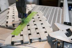 Tips and Tricks to Lay Marble Basketweave Floor Tile - DIY Shaving Cut, Tile Floor Diy, Grey Grout, Diy Playbook, Diy Home Repair, Marble Tiles, Painters Tape, Basket Weaving