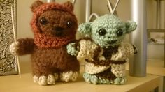 Lucy Collins Star Wars amigurami characters that were made to raise funds for the RAF Benevolent Fund Star Wars Crochet, Crochet Stars, Raise Funds, Star Wars Characters, Teddy Bear, Animals, Animales, Animaux, Teddy Bears