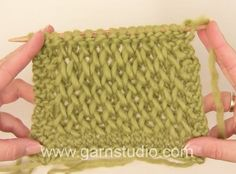 How to knit the waffle pattern in DROPS 157-21