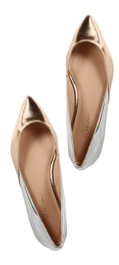 Metallic two tone flats? Yes, please!