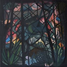 """'Each forest has a way out' by Ziemowit Fincek Oil on canvas; 55 x 55 cm; Contemporary; 2013. ,,N.E.S.B.A.K"""" – neo – expressionistic – surrealism – baroque – abstract - cubist style. The works are created almost entirely from imagination. I try not to use photos and other materials outside of my neurons.' Z.Fincek See more on http://www.studentartworks.com/autorzy/ziemowit-fincek/. www.studentartworks.com"""