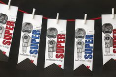 Super Hero Valentine Banner   Clear and Simple Stamps (by Just Me)   Rag Doll Jake   Super Hero Set