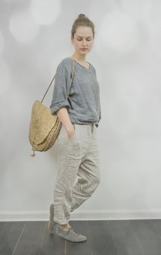 Grey Linen Kimono Top by KnockKnockLinen on Etsy, £62.00
