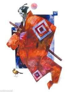 Sergio Toppi - IL SAMURAI ROSSO - Fine Art/5 di Edizioni Papel | eBay