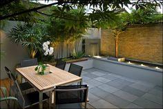 Tranquil contemporary London garden life