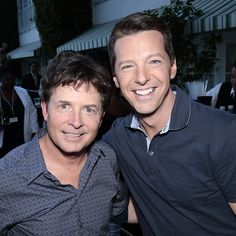 Poolside with Sean Hayes and Michael J. Fox!