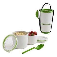 Stackable Lunch Pot - It is designed with airtight containers and a smart stacking system for keeping food fresh and portable.