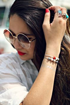 Pretty rings. Pretty nails. Pretty bracelets.
