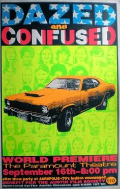 Dazed and Confused premier poster by Frank Kozik 1886 x 2930 Norman Rockwell, Monet, Frank Kozik, Dazed And Confused Movie, Midnight Marauders, Minimal Movie Posters, Film Posters, Band Posters, Concert Posters