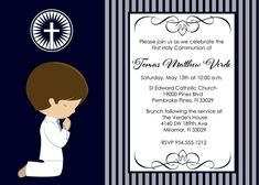 for First Communion Invitations Find a unique selection and digital printable files as well as printed invites for your child's ceremony. Communion Centerpieces, First Communion Invitations, Candy Bar Wrappers, First Holy Communion, Bottle Labels, Printing Services, Christianity, Rsvp, Catholic