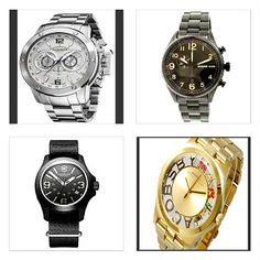 Akribos XXIV Embossed White Dial Luminous Hands Swiss Quartz Stainless Steel Band Mens Watch Michael Kors Hangar Black Ion Plated Stainless Steel Mens Watch Victorinox Swiss Army Original Sports Chrono Black Dial Fabric Strap Water Resistant Mens Watch Marc by Marc Jacobs Henry Crystal/Goldtone Skeleton Stainless Steel Women's Watch