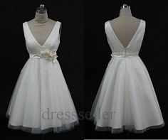 Custom White Prom Dresses Short Sexy Party Dress by Tinadress, $82.00