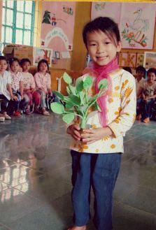 国際NGOワールド・ビジョン・ジャパンを通じての支援者からのお礼の写真です。