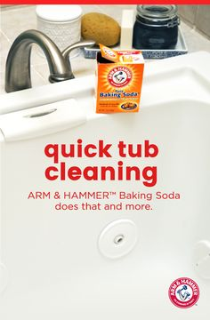 Wash away your mildew stains in just a few easy steps! Use ARM & HAMMER™ Baking Soda and water to create a paste, and then scrub the tub. This will cut through pesky mildew stains and soap scum. So the next time you draw a bath, you can soak easy knowing it's grime-free and chemical-free.