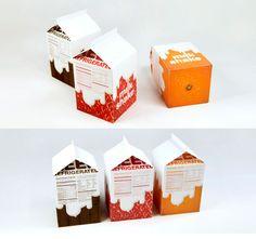 MILK BOX PACKAGING DESIGN  CUTE DESIGN  MILKSHAKE BY CHEUNGYOON KIM