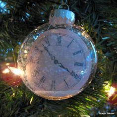 Christmas ornament DIY ~~ with your children's time of birth - how precious.