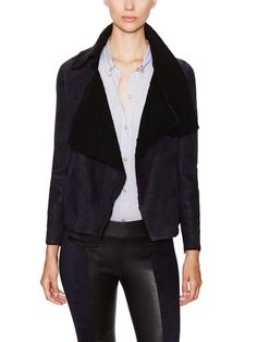 Clayne Shearling Open Front Jacket by Isabel Marant at Gilt