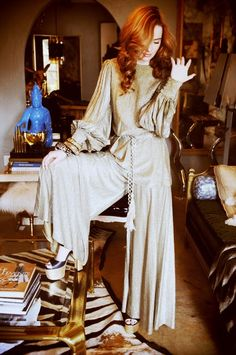 Slinky Studio 54 Jumpsuit - 70s Vintage Fashion Inspiration