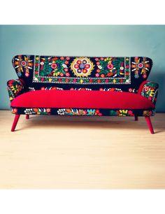 Name Design Studio- Patchwork sofa with Suzani fabrics (3 Seats) - Name Design Studio - Brands