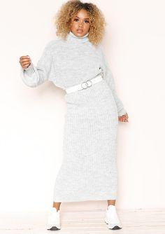 753e9907e64cf Missyempire - Vicki Grey Knit Jumper Midi Co-ord Set Co Ord Sets
