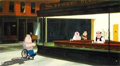 Top 26 des meilleures parodies du « Nighthawks » de Edward Hopper
