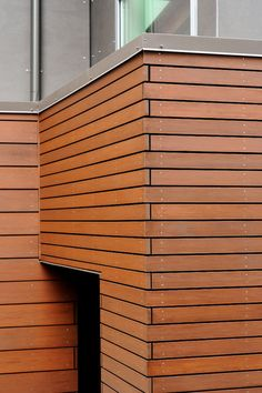 Mercer Island Residence - contemporary - exterior - seattle - GDW/a pllc Rainscreen Cladding, Cladding Design, Cedar Cladding, Exterior Cladding, Brick Veneer Panels, Painted Brick Ranch, Exterior Wall Materials, Materials And Structures, Mid Century Exterior