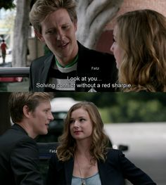 """Look at you. Solving conflict without a red sharpie."" - Nolan - Season 4 Episode 1 ""Renaissance."" #Nemily"