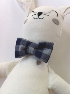 Bunny Doll With Bow Tie by MiniBoheme #madeinUSA #pinparty #munire