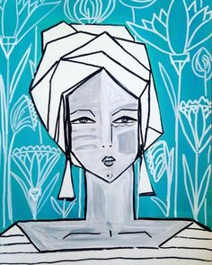 Philomela by Juniper Briggs  Art Figure painting, abstract face, original art, contemporary art, modern art, female figure, painting, modern art, face, original painting, gray lady