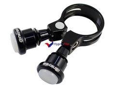 Pince de tige de selle 31.8mm avec lampe dégagement rapide (noir)