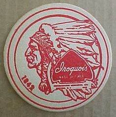#Iroquois beer ale 3 1/2 in #coaster, mat with #indian, buffalo, new york,  View more on the LINK: http://www.zeppy.io/product/gb/2/130048321226/