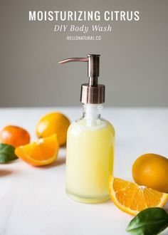Moisturizing Citrus Homemade Body Wash Homemade Coconut Oil and Citrus Body Wash Recipe Diy Body Wash, Homemade Body Wash, Diy Cosmetic, Homemade Coconut Oil, Citrus Essential Oil, Essential Oils, Diy Beauté, Homemade Beauty Products, Natural Products