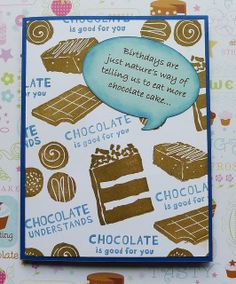 CTMH Card. Chocolate....
