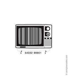 Awesome barcodes, like this TV static.