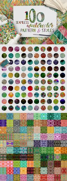 100 Watercolor Pattern & Styles • Download ➝ https://graphicriver.net/item/100-watercolor-pattern-amp-styles/19208127?ref=pxcr