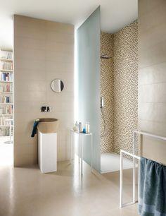 Concept è la collezione in gres porcellanato che trae ispirazione dalle pavimentazioni in resina applicate artigianalmente