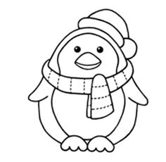 Christmas Pengiun Coloring Pages | Teach Art? I\'ll Try | Pinterest ...