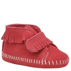 SO cute! Minnetonka Girls' Velcro Front Strap Bootie (Infant-Toddler) | shoemall | free shipping!
