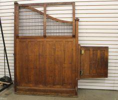 ANTIQUE VICTORIAN OAK GENERAL STORE SWINGING DOOR/GATE SALOON BANK FIXTURE