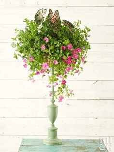 Brighten Your Garden With A Lamp Turned Planter